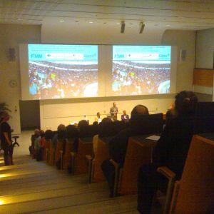 Den öppna föreläsningen lockade fullt auditorium.