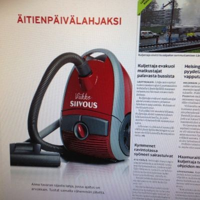 HRM:s annons inför mors dag 2014.