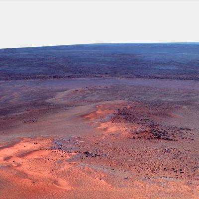 Bild tagen av rymdbilen Opportunity på Mars i januari 2012.