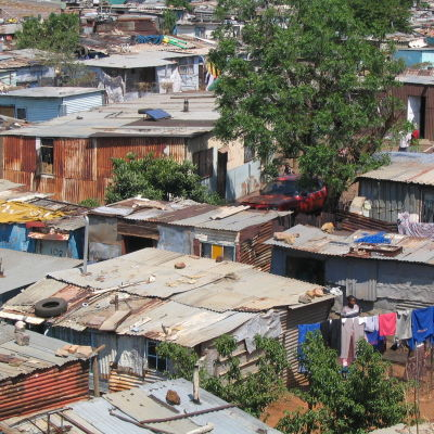 A shanty town in Soweto, South Africa.