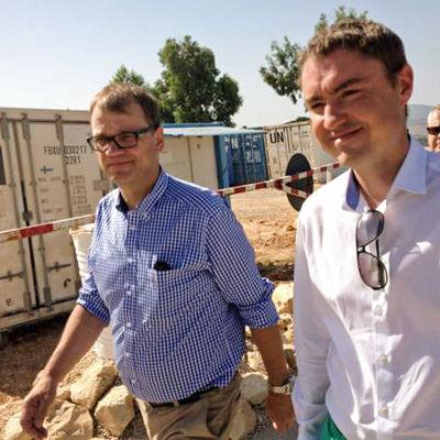 Juha Sipilä och Taavi Rõivas i Libanon.