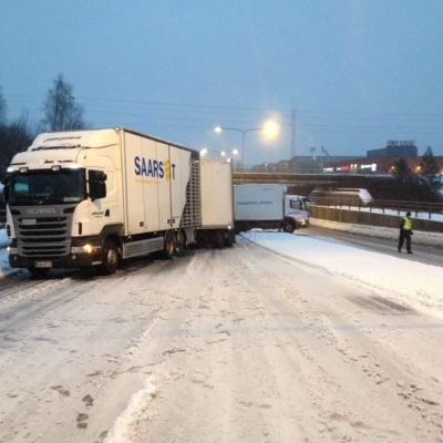 Trafikolycka på Jahnvägen i Åbo 2.2.2016.