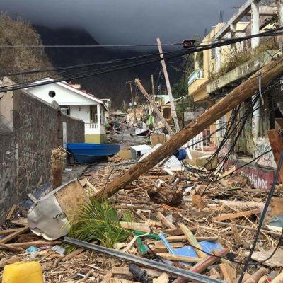 Förödelse på Dominica efter orkanen Maria.