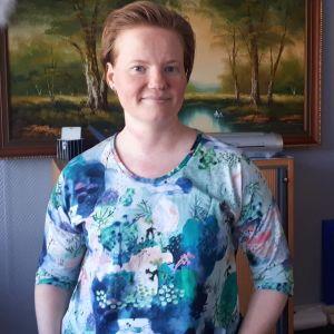 Sonja Jungar-Irjala på Retro i Jakobstad.