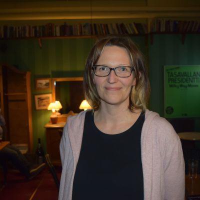 De grönas ordförande i Lojo, Katja Hussi.