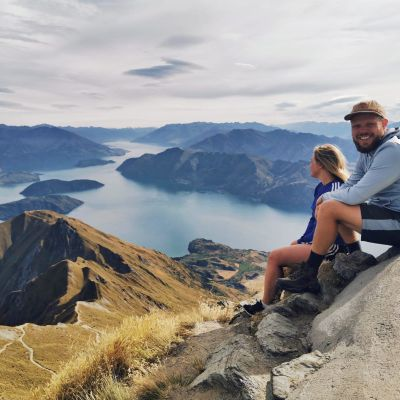 Emil Berglund och Iina Salminen i Nya Zeeland.