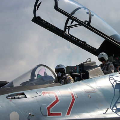 Ryskt stridsflygplan i Syrien.