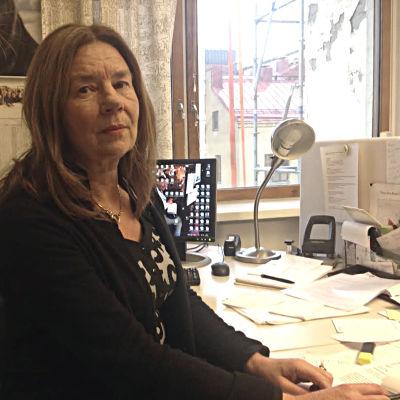 Elisabeth Jansson, förtroendeman och informationschef vid Schildts & Söderströms.