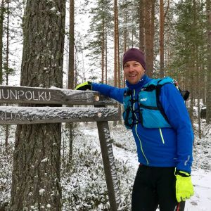 Mikko Peltola Karhunpolulla.