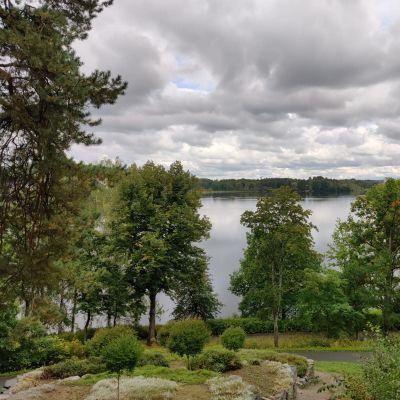Rantamaisema kaupunginpuistosta järvelle.