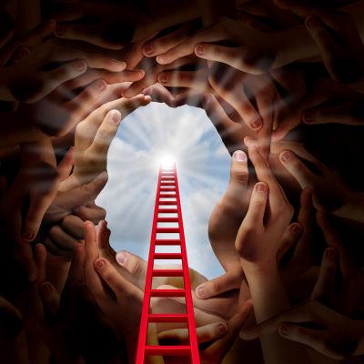 Konstnärens bild av ett öppet sinne.