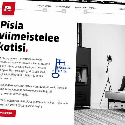 Kuvakaappaus Pislan verkkosivuilta.