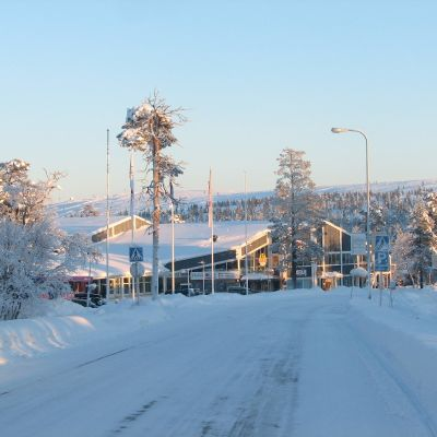 Vintervy från Saariselkä