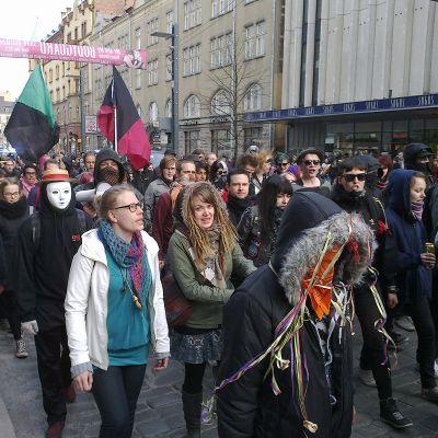 Mielenosoitus Tampereella.