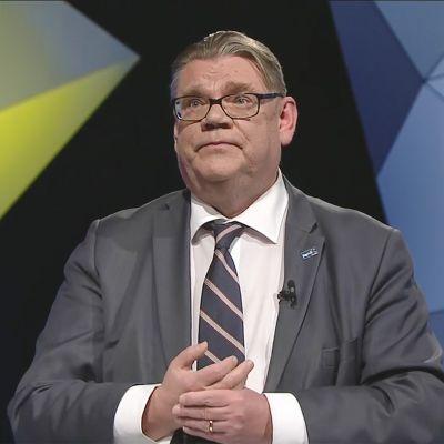 Puoluepäivä Perusssuomalaiset puheenjohtaja Timo Soini