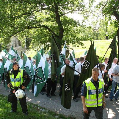 Svenska motståndsrörelsen demonstrerar 2007