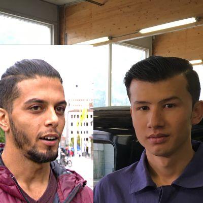 Två unga män