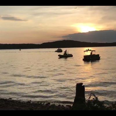 Kadonneita etsittiin Table Rock Lakella Missourissa 19. heinäkuuta.