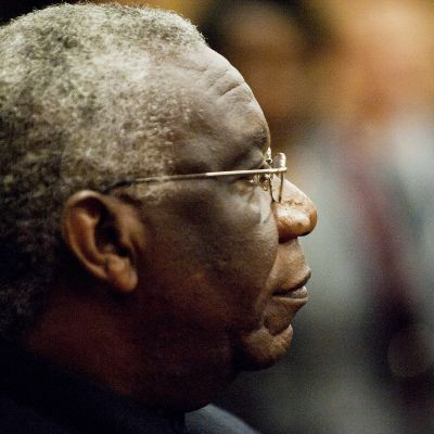 Syytetty ruandalaismies Francois Bazaramba Helsingin hovioikeudessa 22. elokuuta 2011.