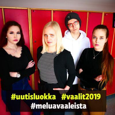 Helsingin medialukion uutisluokkalaiset tenttaavat puolueiden puheenjohtajia