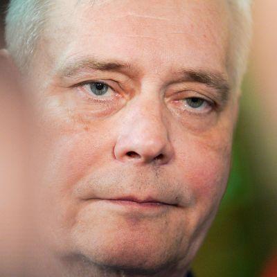 Antti Rinne Säätytalossa.