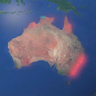 Australian palot kartalla