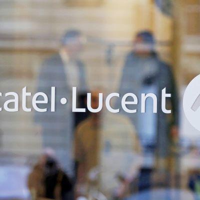Alcatel-Lucent -logo ovessa