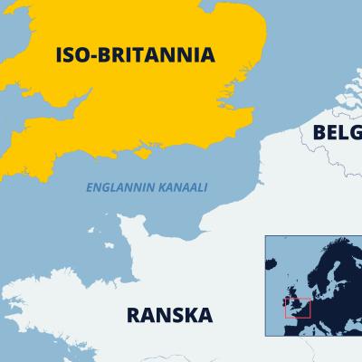Kartta Englannin kanaalista.