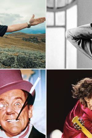 Kollaasi Teeman ohjelmista: vasemmalta ylhäältä myötäpäivään Altai 30 päivässä, Ida, The Rolling Stones Kuubassa, Batman