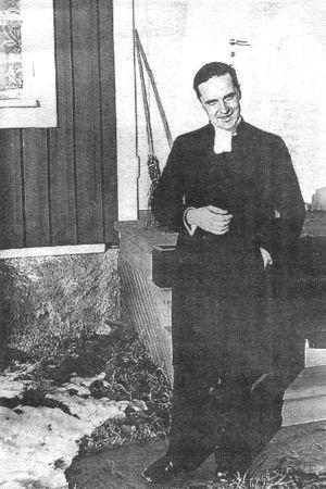 Valdemar Nyman som nyvigd präst i Finström 1929.