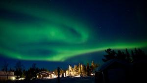 Revontulet Kirunan yllä