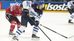 Jussi Jokinen och Finlands anfallare kom ingen vart mot Kanada.