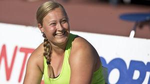 Heidi Nokelainen vann sitt första FM-guld i spjut i Uleåborg.