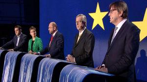 Toppkandidaterna debatterar inför valet