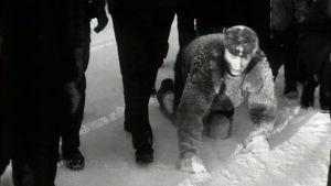 Varastomies Veikko Niemistö tekee konttaamisen ME:tä Seinäjoella 1967.