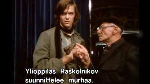 Markus Aalto Raskolnikovina tv-draamassa Dostojevskin galleria (1983)