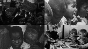 Kuvakollaasi ohjelmasta Köyhyysleikki (1973)