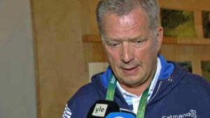 Sauli Niinistö vid OS i Rio