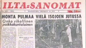 Iltasanomien uutisointia 1953