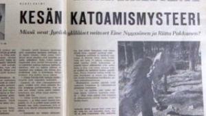 Tulilahden katoamismysteeristä sanomalehdessä