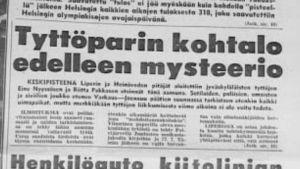 Sanomalehtikirjoitus kadonneistä tytöistä