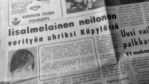 Sanomalehtikirjoitus vuonna 1963