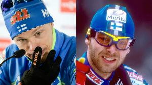 Collage på Iivo Niskanen och Mika Myllylä.