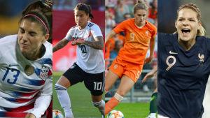 Alex Morgan, Dzsenifer Marozsan, Vivianne Miedema, Eugenie Le Sommer.