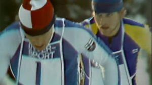Pertti Teurajärvi ja Ruotsin Tommy Limby hiihdon MM-kisoissa 1978