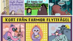 Pärmbilder till fyra finlandssvenska barnböcker.