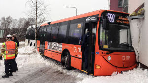Bussolycka i Vik i Helsingfors den 26 januari 2016.