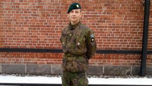 Jacob Söderström i armén.