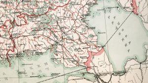 Gammal karta över Viborgs län