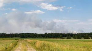 Bild tagen runt 20 kilometer från skogsbranden i Kauhavaområdet.